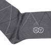 Diamond Cotton OTC Socks - Gray
