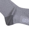 Dot Jacquard Cotton OTC Socks - Gray