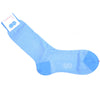 Herringbone Cotton Calf Socks - Light Blue