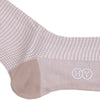 Houndstooth Cotton Calf Socks - Tan