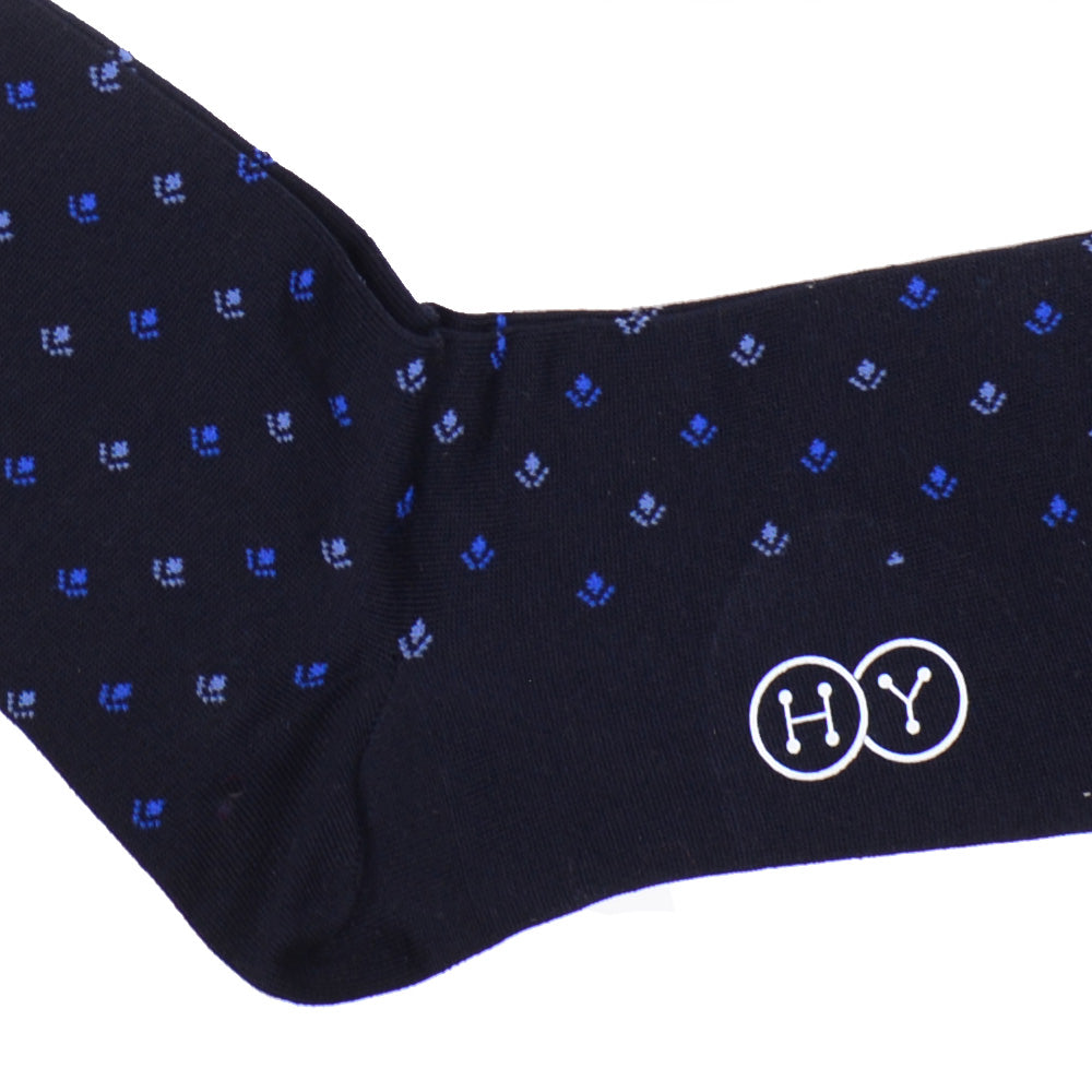 Neat Cotton OTC Socks - Navy