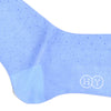 Pindot Cotton OTC Socks - Light Blue and Purple