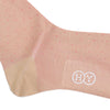 Pindot Cotton OTC Socks - Tan and Pink