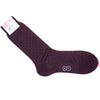 Pindot Cotton Calf Socks - Burgundy and Orange