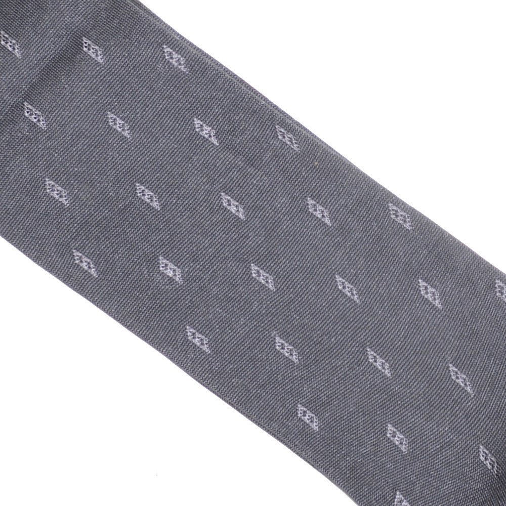 Cotton Silk Parallelogram Socks - Gray
