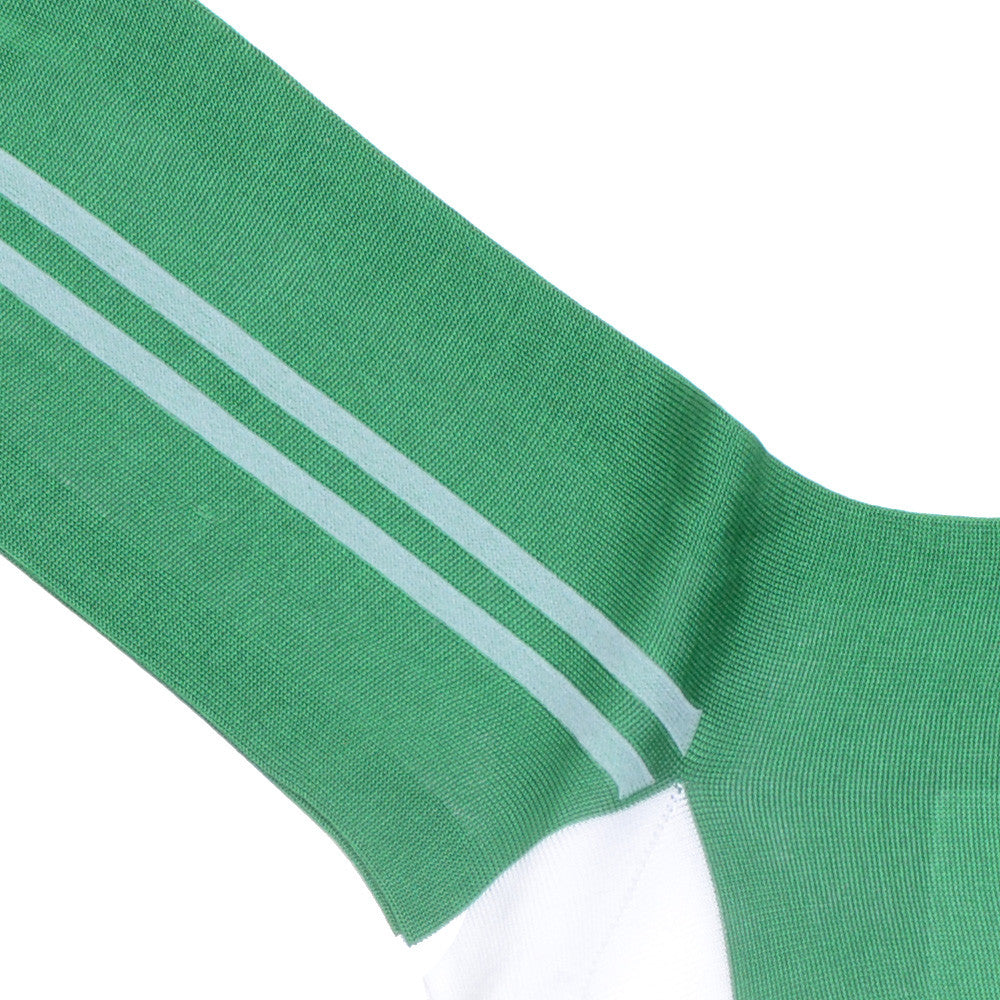 Sport Stripe Cotton Socks - Green