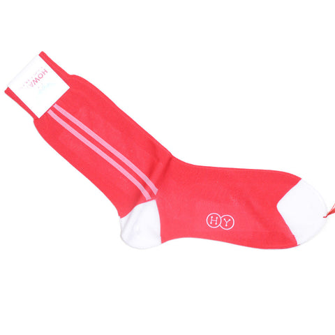 Sport Stripe Cotton Socks - Red