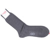 Windowpane Cotton Calf Socks - Gray