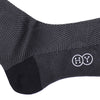 Zigzag Cotton OTC Socks - Dark Gray