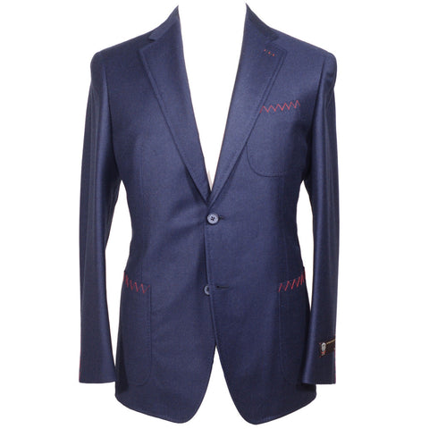 Super 150s Flannel Suit - Navy