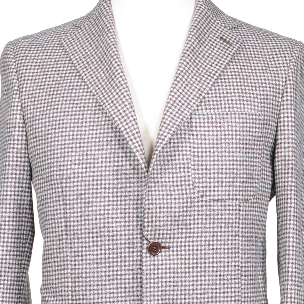 Brown Houndstooth Flannel Suit