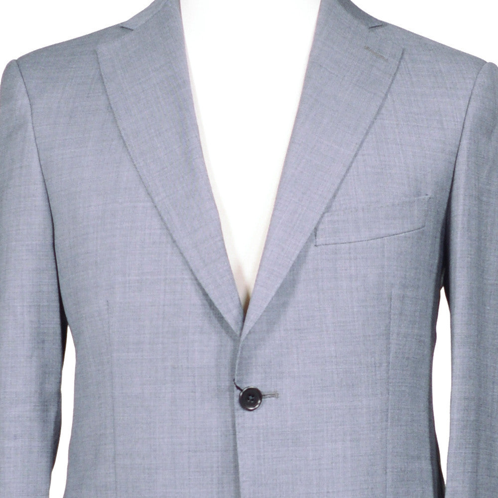 Gray Sharkskin Wool Suit