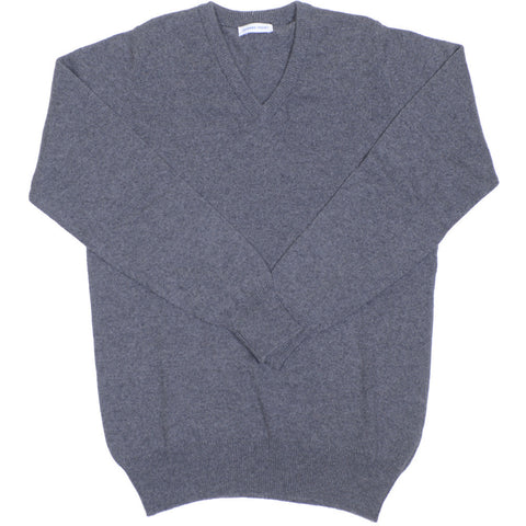 Cashmere V-Neck - Derby Gray