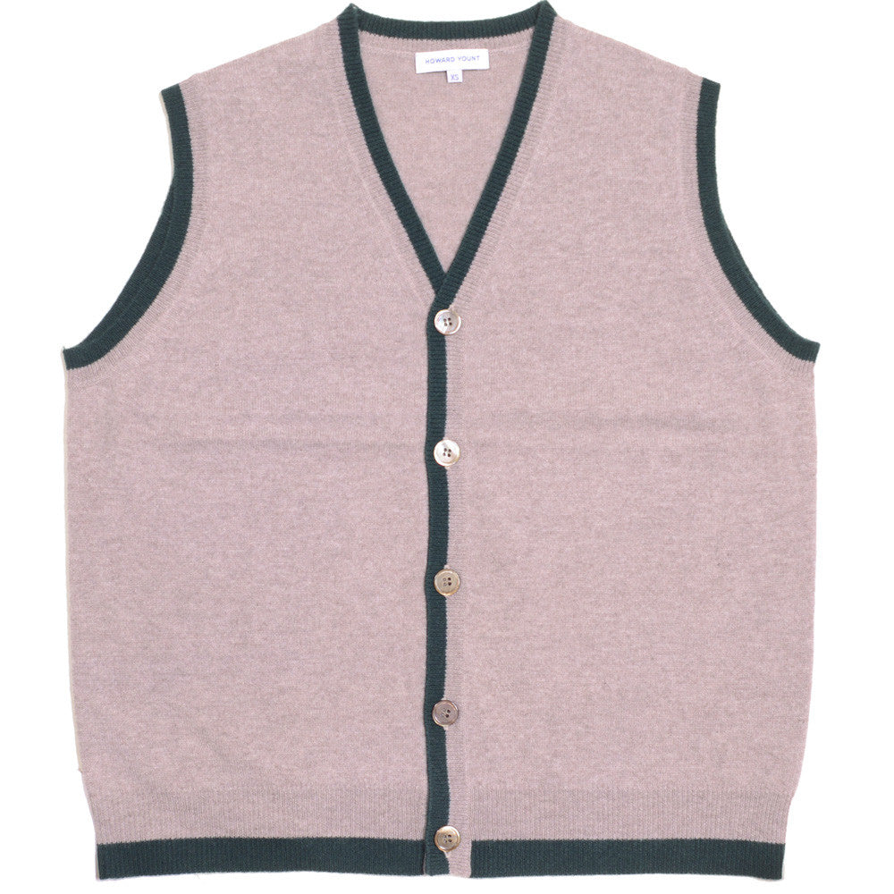 Cashmere Vest - Dark Natural and Green