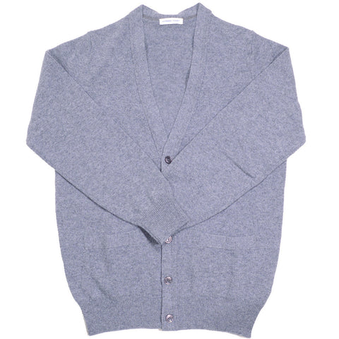 Lambswool Cardigan - Dove Grey
