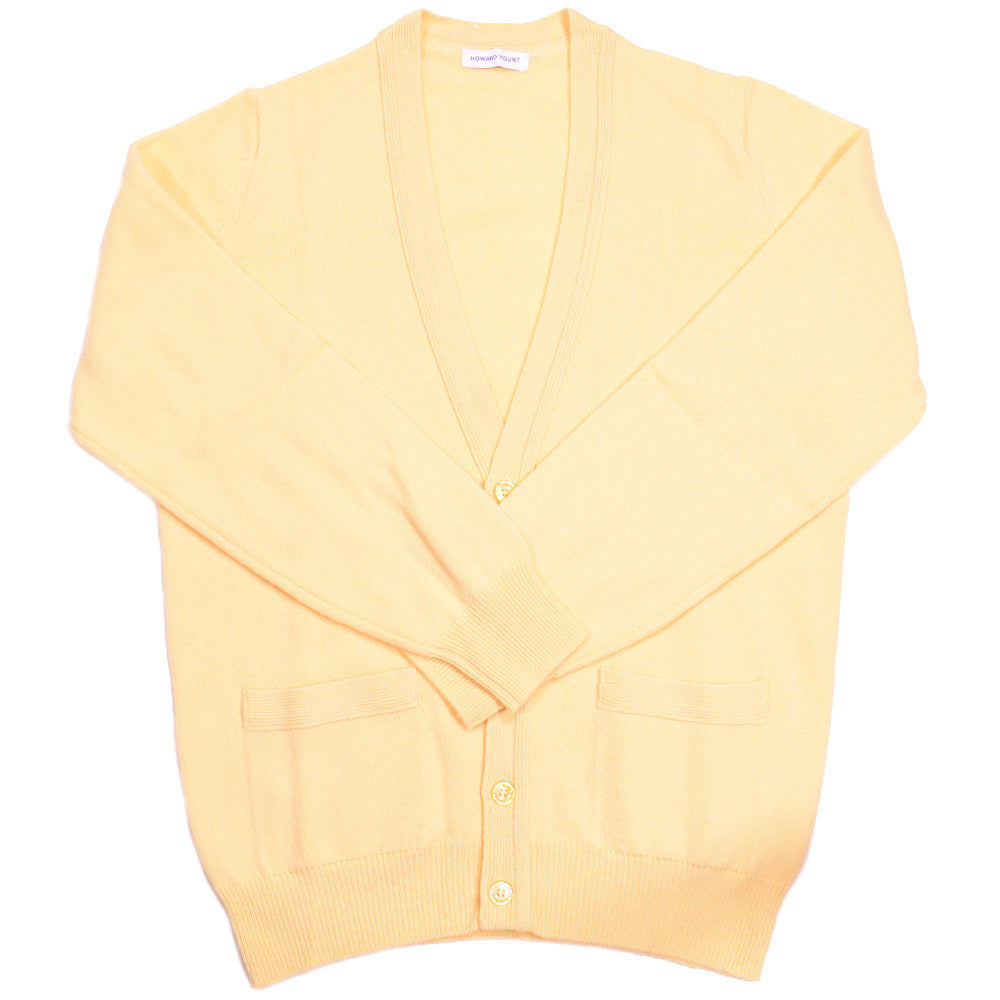 Lambswool Cardigan - Yellow