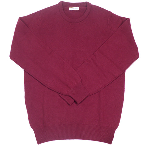 Lambswool Crewneck - Burgundy