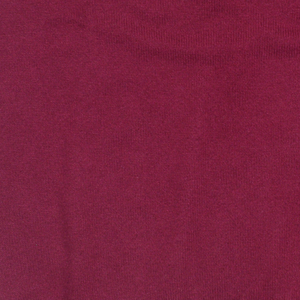 Lambswool V-Neck - Burgundy