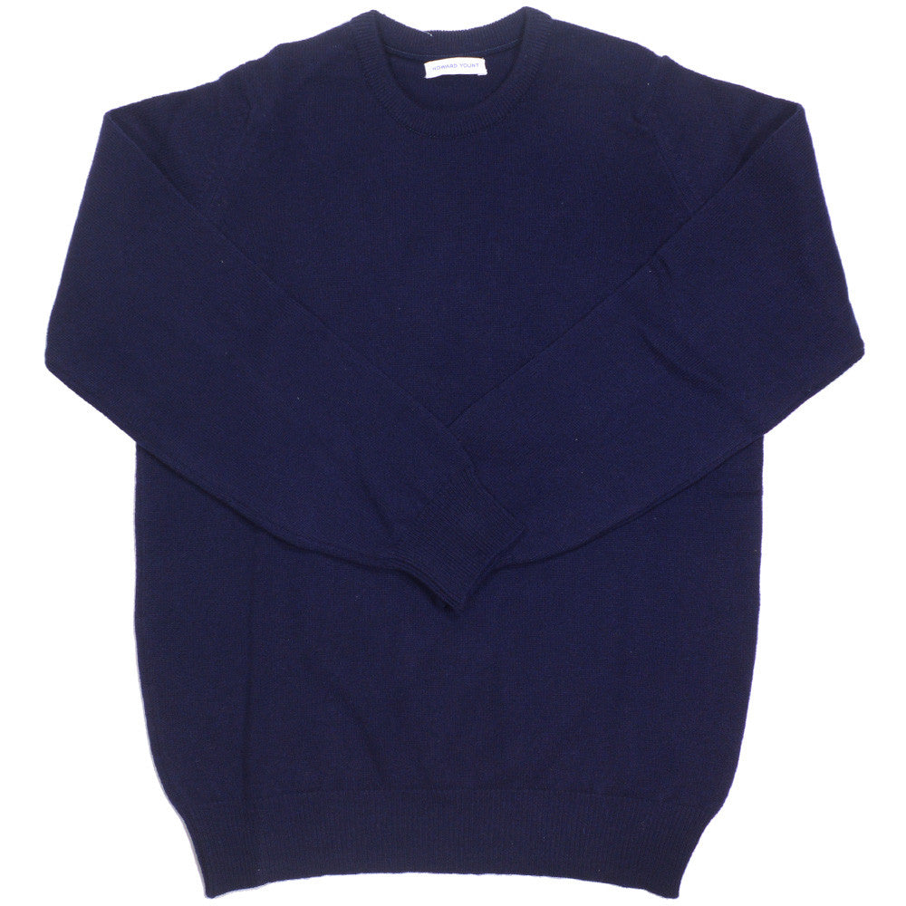 Lambswool Crewneck - Navy