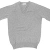 Lambswool V-Neck - Pearl Gray - XS