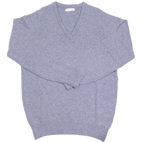 Lambswool V-Neck - Dove Grey - XL
