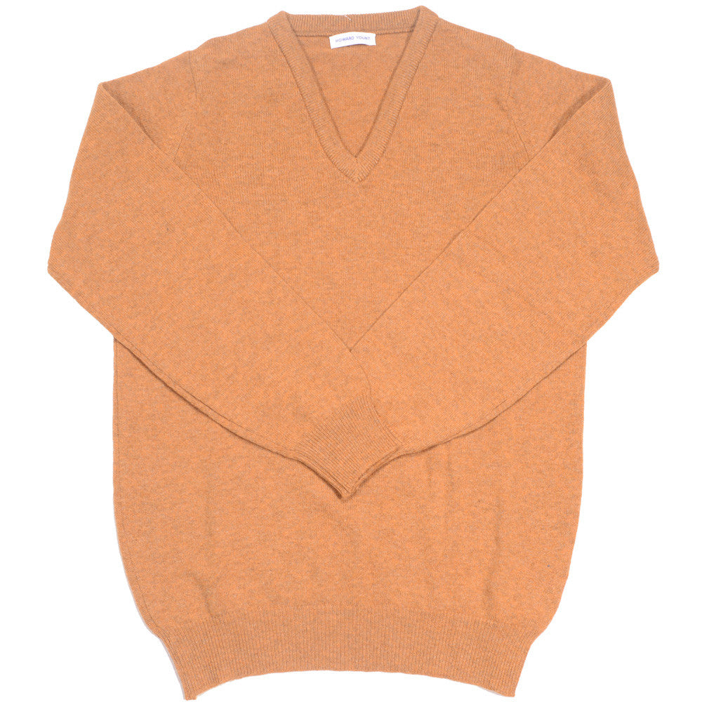 Lambswool V-Neck - Gazelle