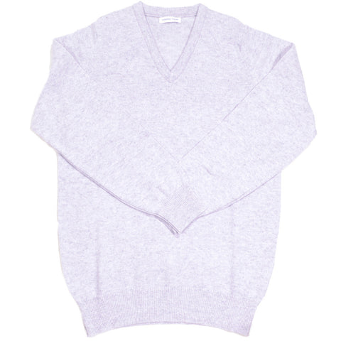 Lambswool V-Neck - Pearl Gray