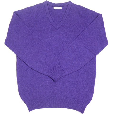 Lambswool V-Neck - Prune
