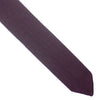 Silk Knit Flat Weave Tie - Burgundy