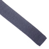 Wool Knit Tie, Flat End - Gray
