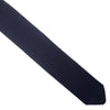 Wool Knit Tie, Pointed End - Navy