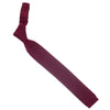 Wool Knit Tie, Flat End - Red