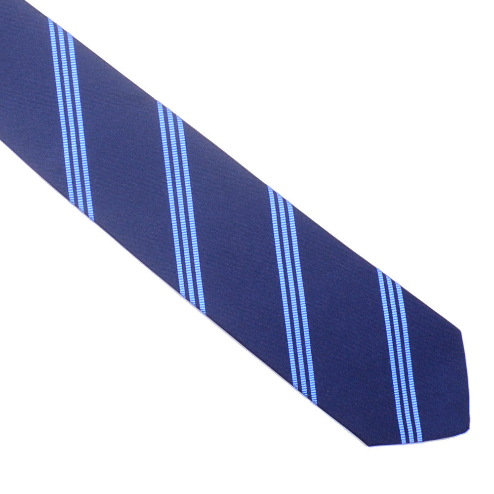 Mogador Triple Stripe Tie - Navy and Blue