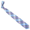 Madras Linen Tie - Light Blue, Pink, Green