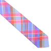 Madras Linen Tie - Pink and Light Blue