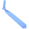 Silk Woven Squares Tie - Light Blue and White