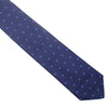 Silk Woven Squares Tie - Navy and Blue
