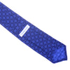 Printed Silk Tie - Dark Purple and Blue