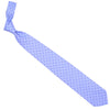 Printed Silk Tie - Light Blue and Purple