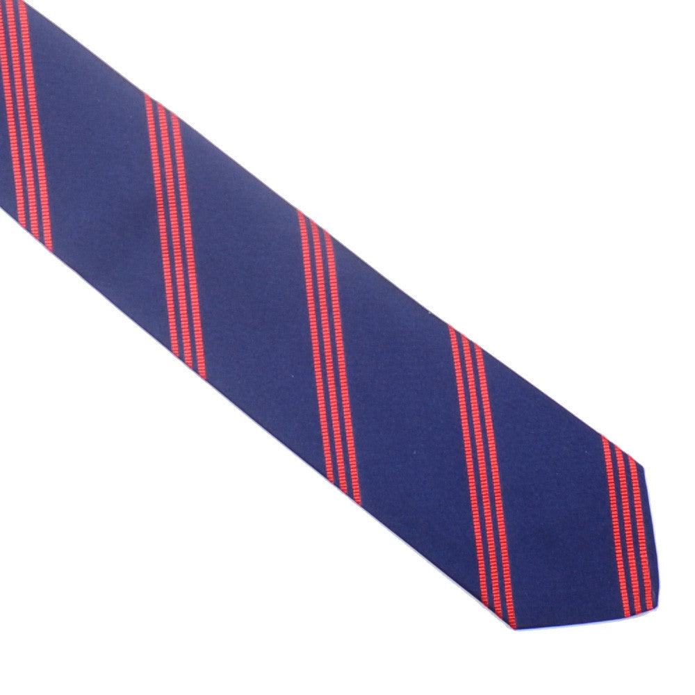 Mogador Triple Stripe Tie - Navy and Red