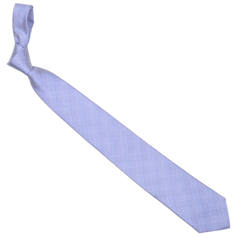 Silk Glen Plaid Tie - Blue