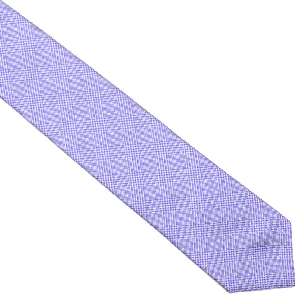 Silk Glen Plaid Tie - Purple