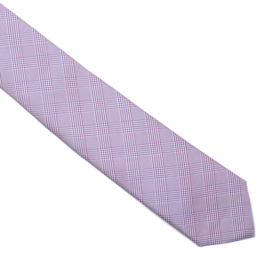 Silk Glen Plaid Tie - Red