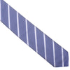 Silk Woven Double Stripe Tie - Gray