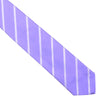 Silk Woven Double Stripe Tie - Purple