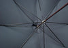Dark Brown Ash Sleek Umbrella - Light Blue