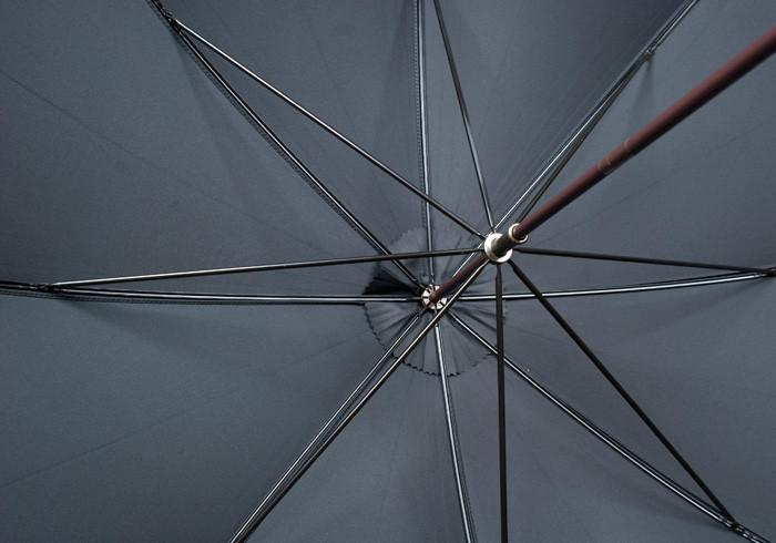 Dark Brown Ash Sleek Umbrella - Brick