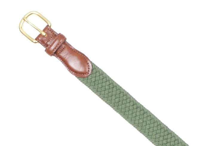 Stretch Macram̩e Belt - Olive Green