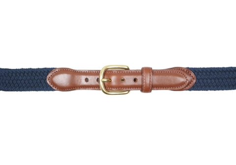 Stretch Macram̩e Belt - Navy