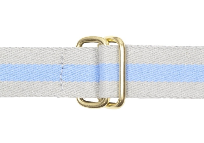 Square Ring Belt - Gray and Blue